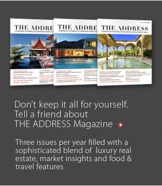 Don't keep it all for yourself. Tell a friend about The Address magazine.