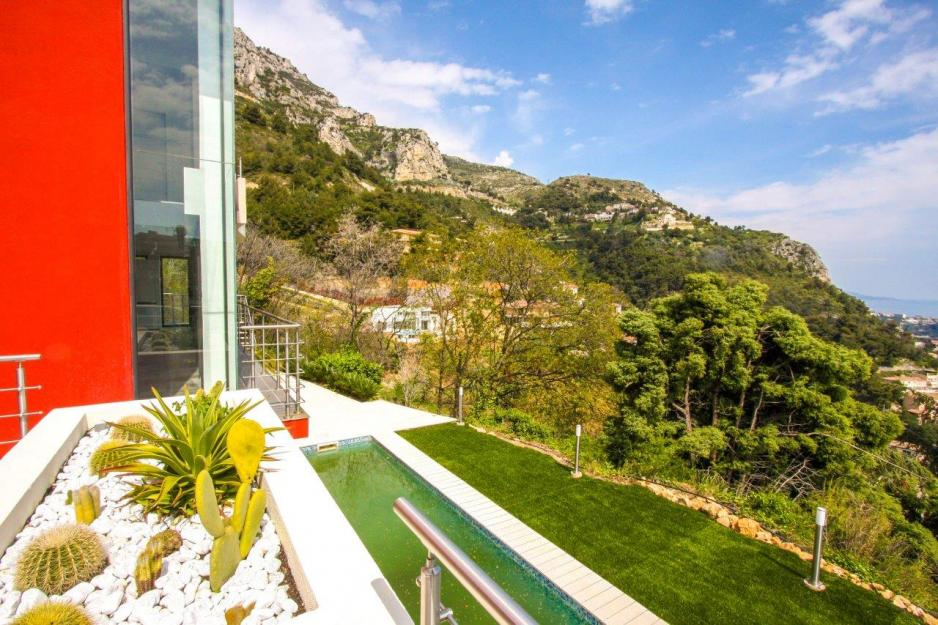 View from villa, Beausoleil, French Riviera