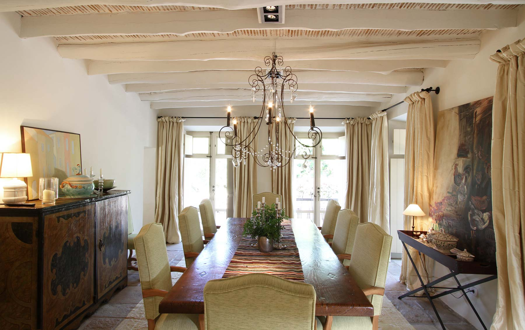 dining room, Mallorca country house