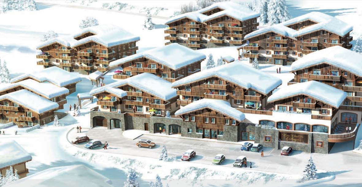 New ski apartment buildings in Chatel