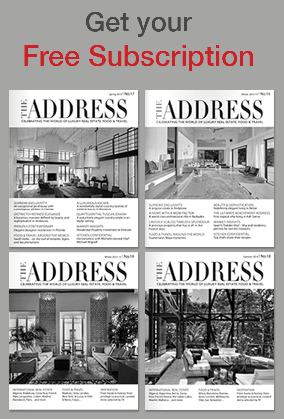 The Address Magazine subscribe banner 2