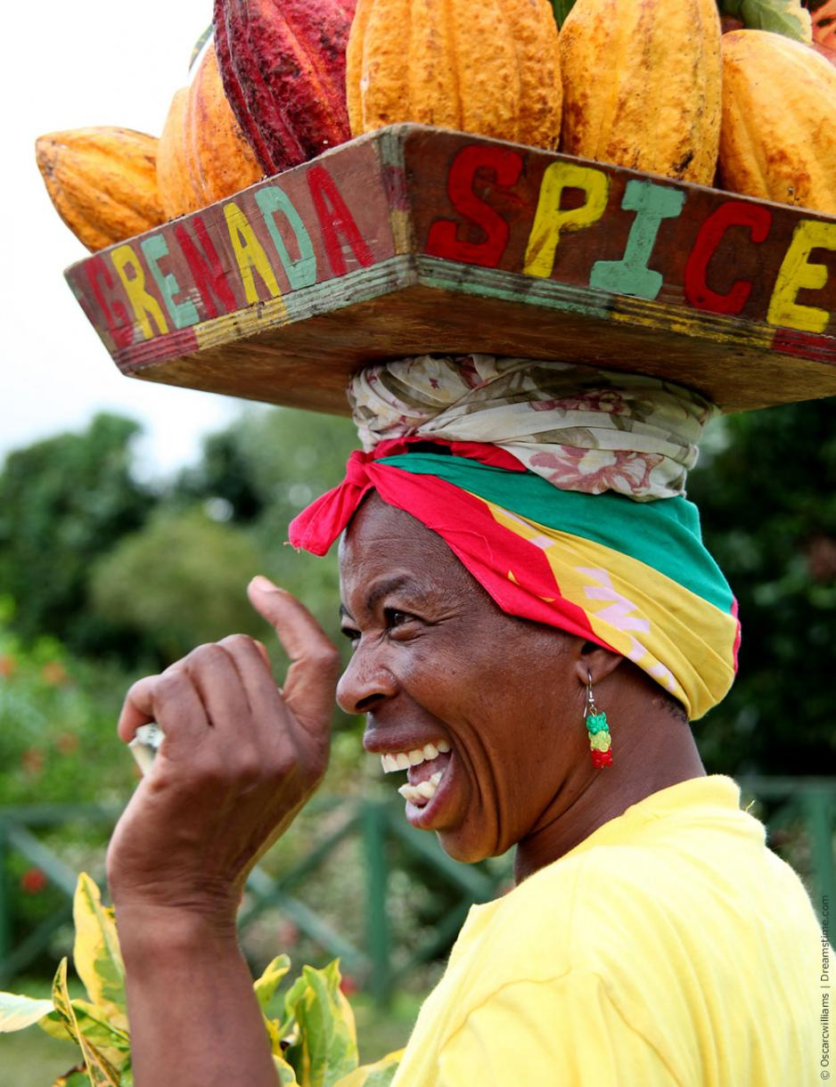 Laughing woman Grenada