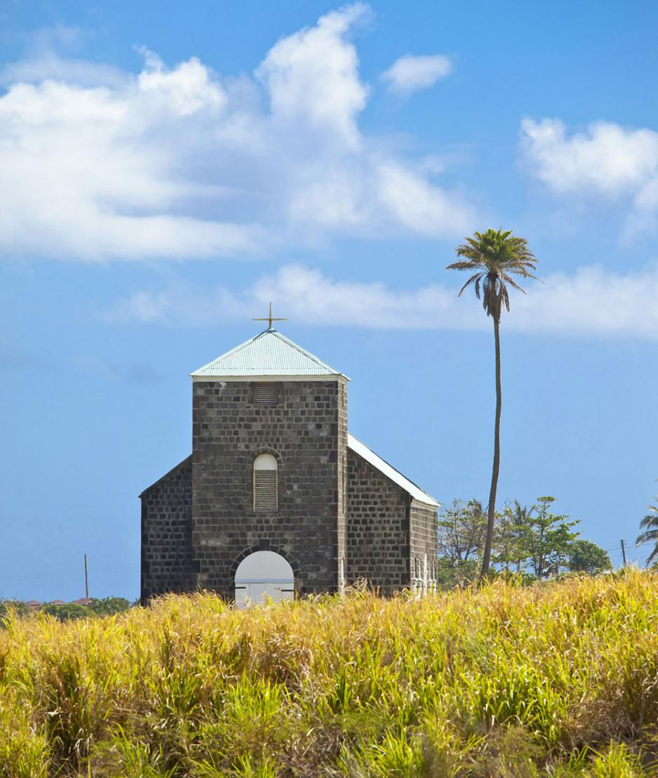 Church building St Kitts Caribbean