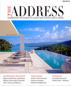 Front page cover of THE ADDRESS Magazine Volume23