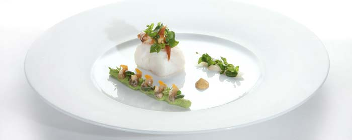Cod with crab and horseradish