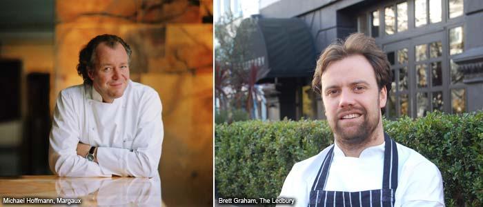 Chef Brett Graham, The Ledbury, London, UK and Chef Michael Hoffmann, Margaux, Berlin, Germany