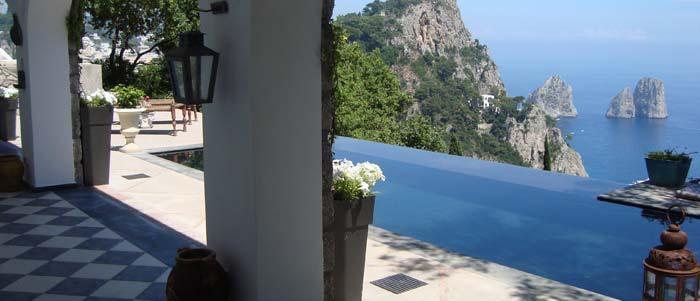 view from capri villa