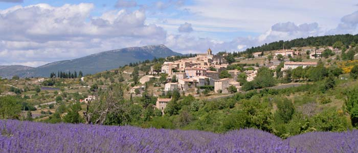 View of French village