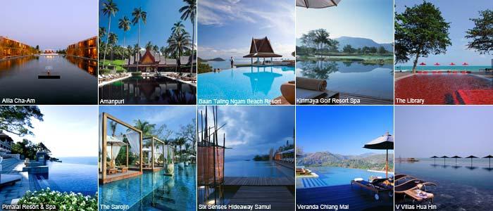 Top ten hotel pools in Thailand