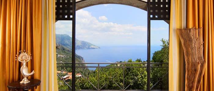 View from Amalfi villa