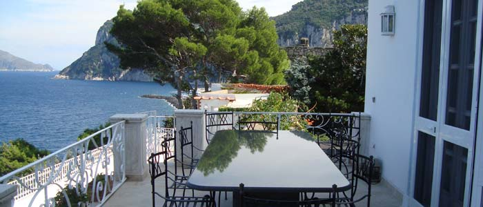 View from terrrace, villa Capri