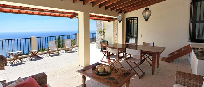Sea view from villa terrace in Eze
