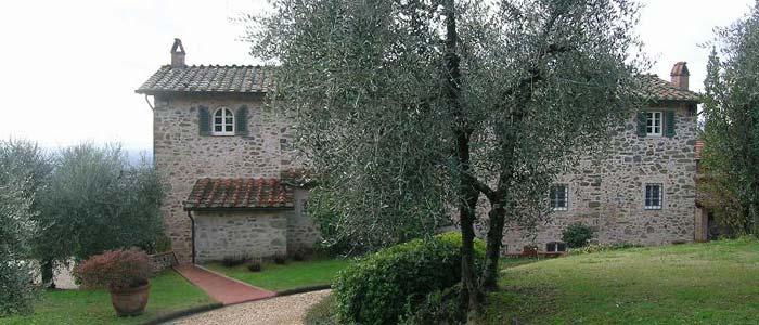 Tuscan farmhouse outside Lucca