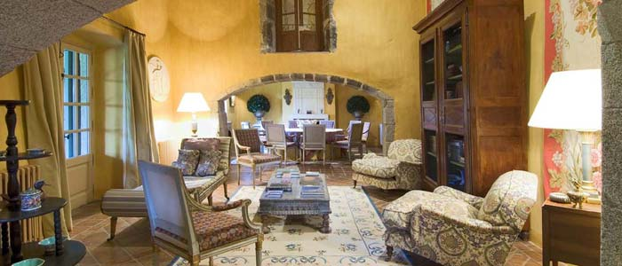 Reception room in elegant country house, costa Maresme