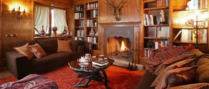 Living room Italian ski chalet