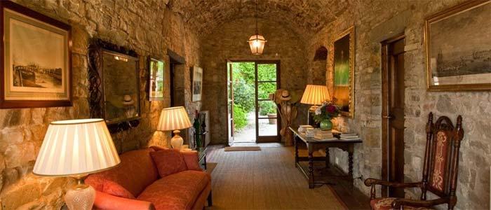 Interior Tuscan wine estate