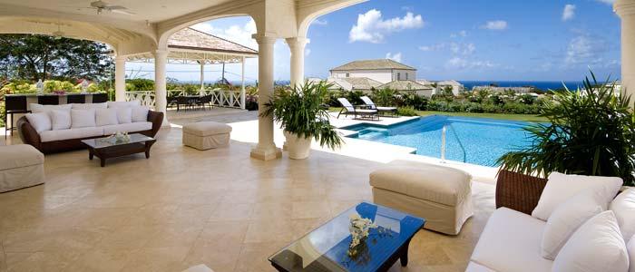 Barbados villa terrace