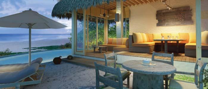 Beach villa in the Maldives