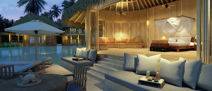 Villa terrace in the Maldives