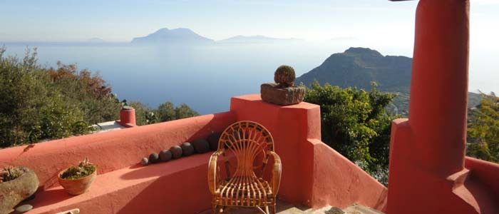 View from villa in Aeolian Islands, Italy