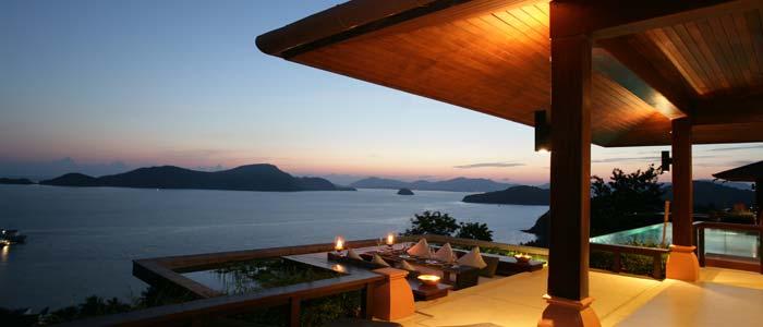 View from villa in Phuket, Thailand