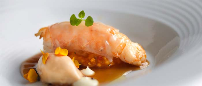 Fried langoustine, seaweed and lobster mayonnaise