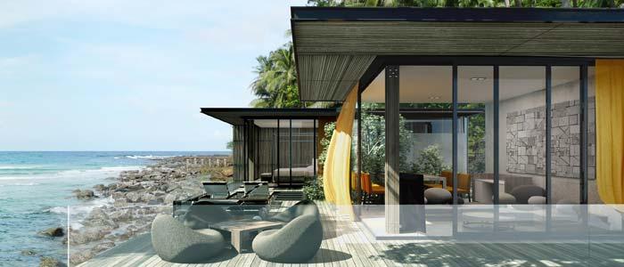 Modern seafront villa in Thailand
