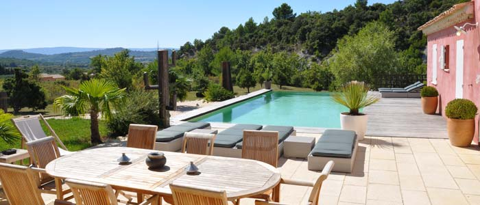 Panoramic view from villa in Provence, Spain