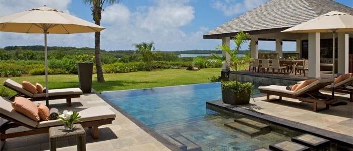 View from villa in Mauritius