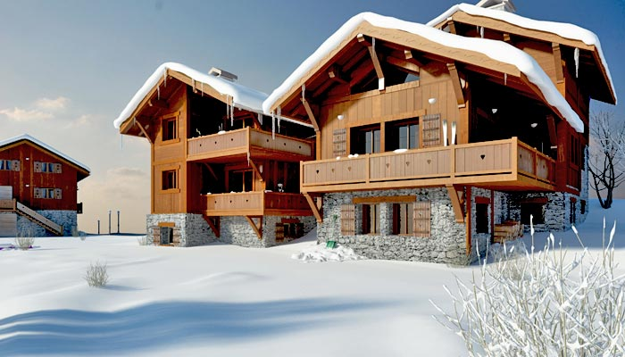 Chalets in the French Alps