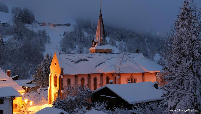 Church in Les Gets, French Alps