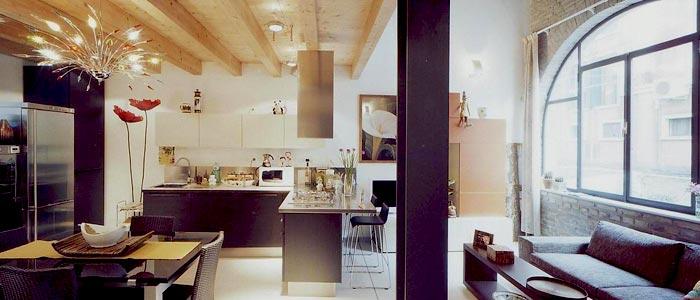 Interior of modern apartment in Venice