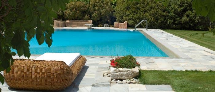 Villa pool in Ekali, Greece