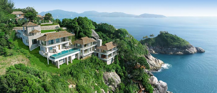 Aerial of villa in Phuket