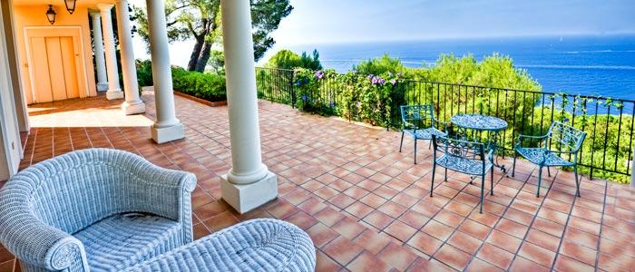 Villa terrace, French Riviera