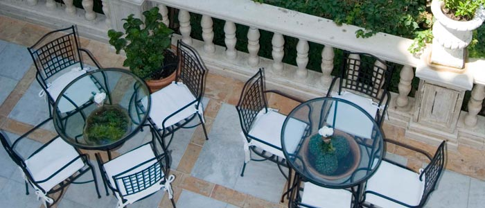 Terrace at mansion house in Seville