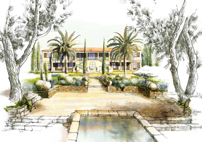 illustration of villa in St Tropez