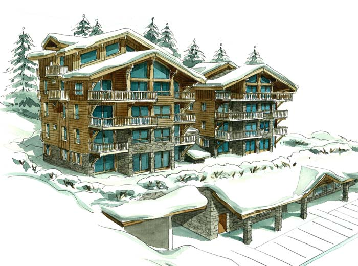 Courchevel ski lodge