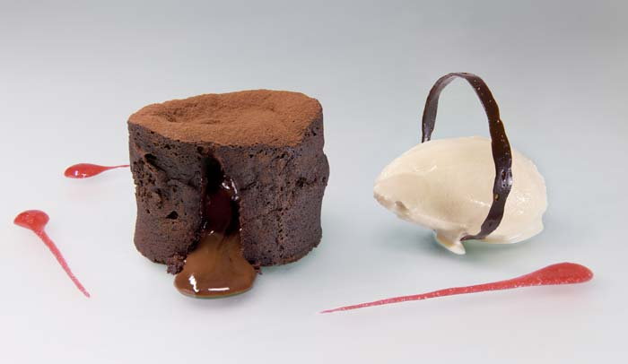 Dark Chocolate Moelleux And Milk Sorbet Recipe The Address