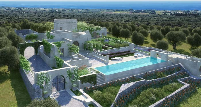 Luxury Masseria In Puglia For Sale New Build Customised