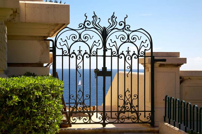 Entrance gate to villa on French Riviera