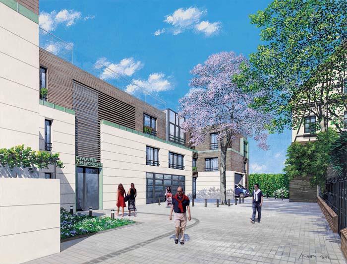New build apartments in Montmartre Paris (2)
