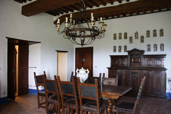 Dining room Castello Policiano