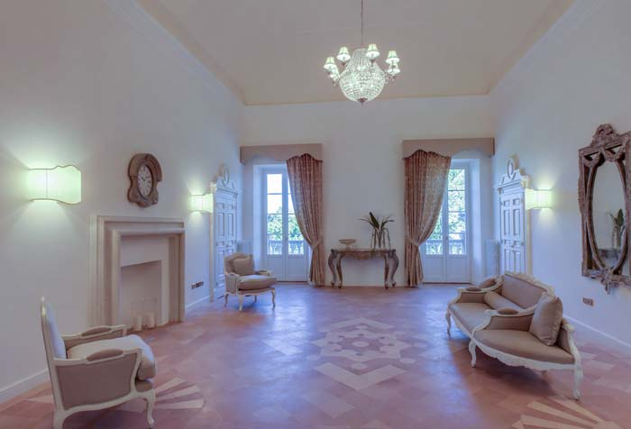 Formal living room in Le Marche Italy