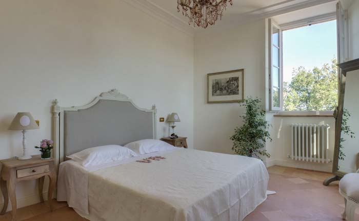 Bedroom in classic villa in Le Marche Italy