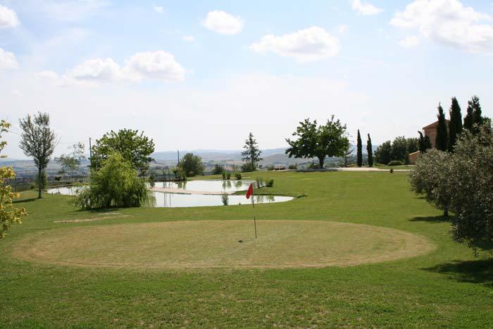 Golf course at country estate in Le Marche Italy