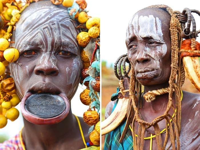 Mursi tribe women Ethiopia