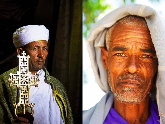 Ethiopian priest and village man