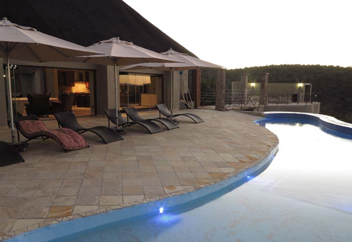 Terrace at private game lodge in South Africa