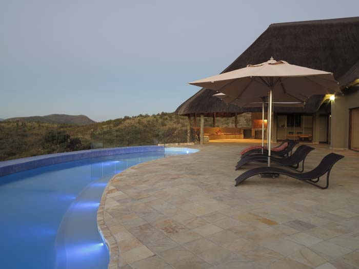 Pool and panoramic view from private game farm in South Africa 2